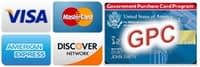 We Gladly Accept GPC, VISA, MasterCard, American Express. and Discover Cards